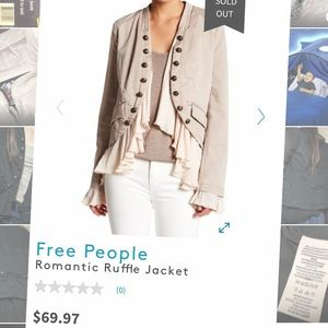 Free people romantic ruffle jacket NWOT